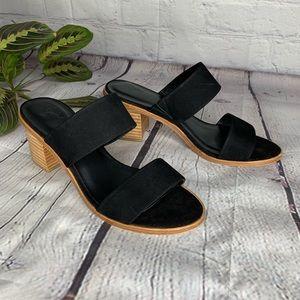 Joie Maha block heel black sandals 37.5